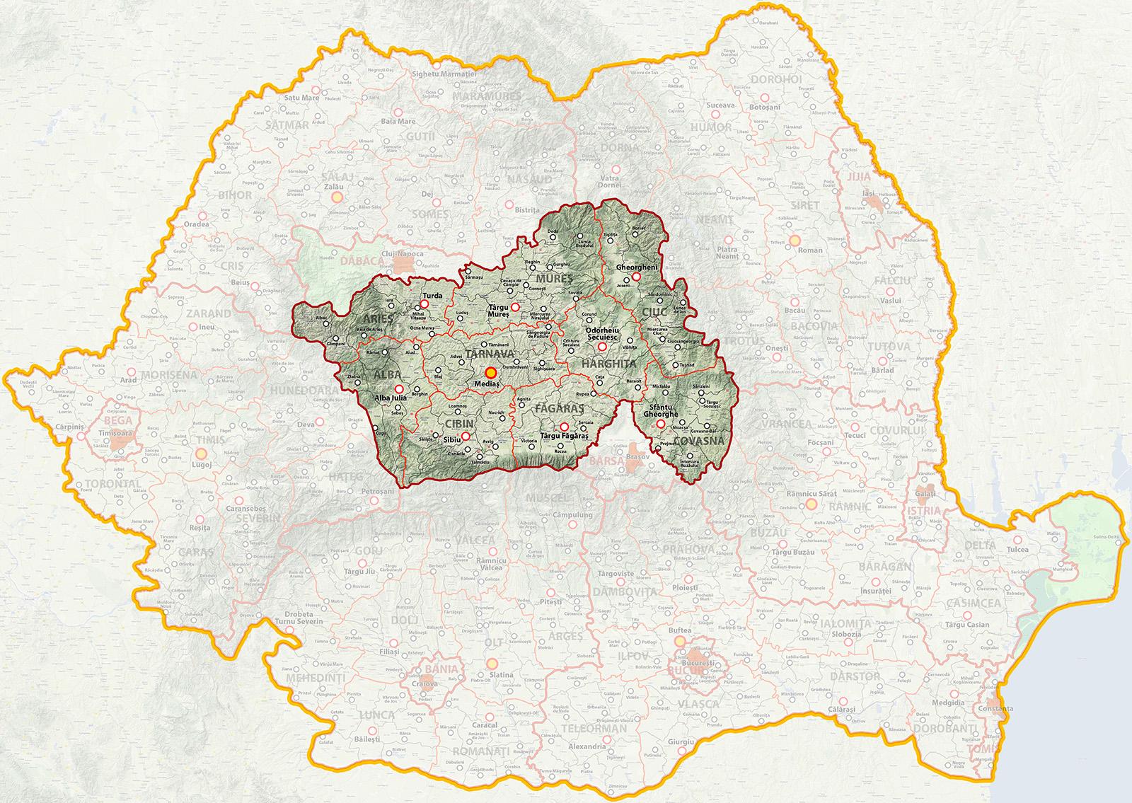 Regiunea Ardeal Metrosec Romania