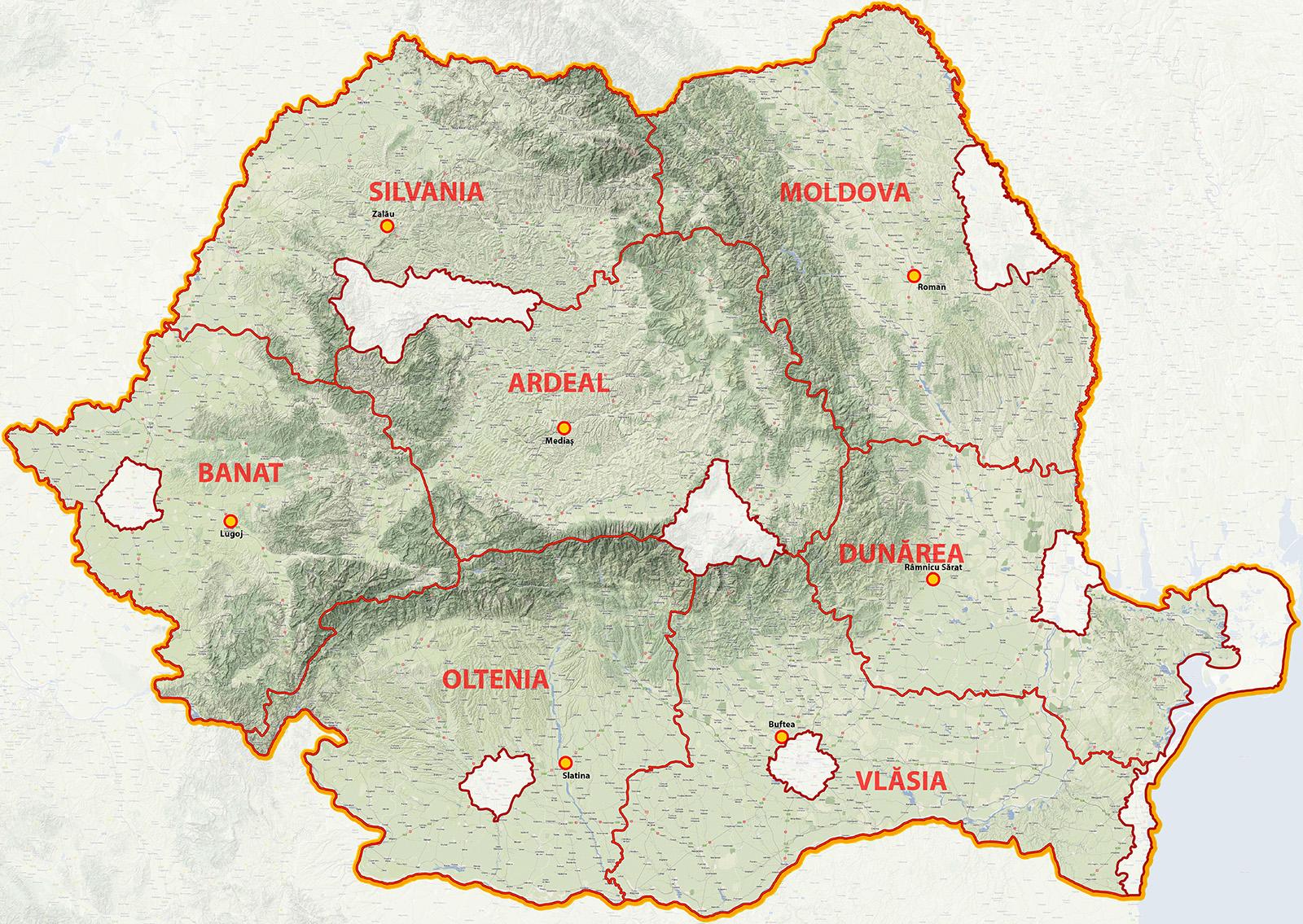 Regiuni Metrosec Romania